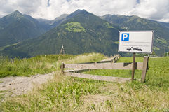 Parking space at Alps Royalty Free Stock Image
