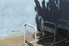 Parking space for bicycles stock image