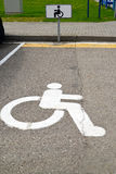 Parking space for disabled people Royalty Free Stock Photo