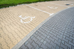 Parking space for disabled people. Stock Image