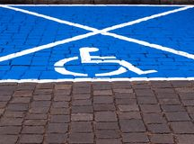 Parking space for disabled people royalty free stock images