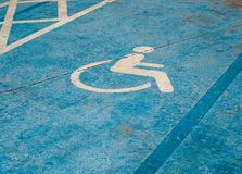 Parking space only for disabled people. Stock Image