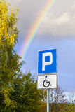 Parking space for the disabled person. Stock Images