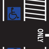 Parking space for the disabled Stock Photography