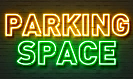 Parking space neon sign Stock Photography