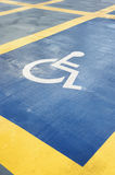 Parking space reserved for handicapped person Royalty Free Stock Photos