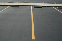 Parking Spaces. On a big parking lot royalty free stock images