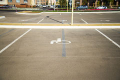 Parking spaces for disabled people Royalty Free Stock Photos