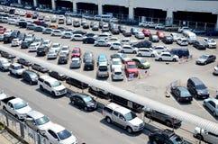 Parking spot for car of people passenger of BTS skytrain park Stock Photo