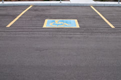 Parking spot for handicapped Stock Photography