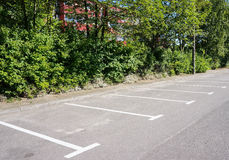 Parking spots Royalty Free Stock Photography