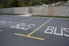 Parking spaces on the parking lot royalty free stock photography
