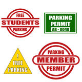 Parking Stickers Set. Stock Photos