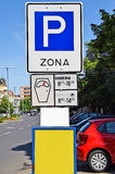 Parking strefa Fotografia Stock