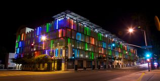 Parking Structure in Los Angeles With Colorful Acc Stock Image