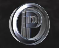 Parking symbol in glass. Parking symbol in transparent glass (3d Stock Photography