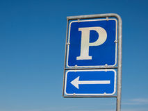 Parking symbol sign Stock Image