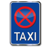 Only parking for Taxis Stock Photography