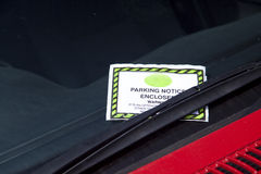 Parking ticket Royalty Free Stock Image