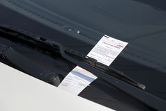 Parking Ticket Royalty Free Stock Photos
