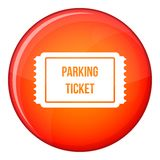 Parking ticket icon, flat style Royalty Free Stock Photos