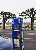 Parking ticket machine Geneva Royalty Free Stock Photography