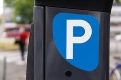 Parking ticket machine stock image