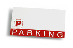 Parking Ticket Pass. Parking ticket on a white background royalty free stock photo