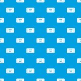 Parking ticket pattern seamless blue Royalty Free Stock Images