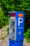 Parking ticket pay machine Royalty Free Stock Image