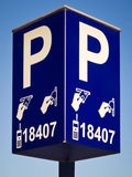 Parking ticket payment machine sign in Amsterdam Stock Image