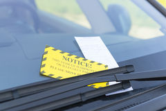 Parking ticket Royalty Free Stock Photography