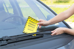 Parking ticket Stock Images