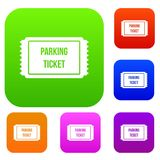 Parking ticket set collection Stock Image