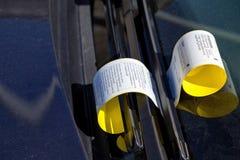 Parking ticket Stock Photos