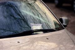 Parking Ticket in Wind shield wiper Stock Photography