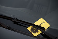 Parking Ticket on Windshield Royalty Free Stock Image