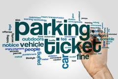 Parking ticket word cloud Stock Photos