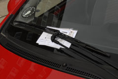 PARKING TIKET. Kastrup.Copenhagen.Denmark  17th  September  2015_Parking ticket at car              (Photo by Francis Joseph Dean/Deanpictures Royalty Free Stock Image