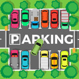 Parking Top View Vector Illustration Royalty Free Stock Images