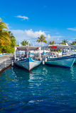 Parking traditional Dhoni boats, Maldives Royalty Free Stock Image