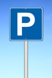 Parking traffic sign Stock Photos