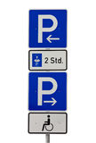Parking traffic sign.isolated Royalty Free Stock Images