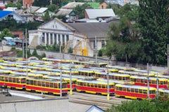 Parking Trams Stock Photos