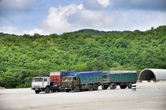 Parking of trucks Stock Photography