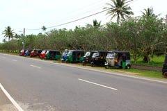 Parking tuk-tuk Fotografia Stock