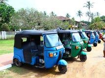 Parking tuk-tuk gromadzki Koggala, Sri Lanka Obraz Royalty Free