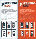 Parking ulotki w minimalisty stylu royalty ilustracja