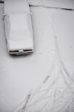 Parking under snow Stock Photography