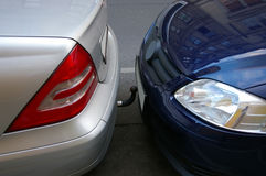 Parking under the Vienna. Cars standing in the parking lot. Very closely, Vienna Royalty Free Stock Photo